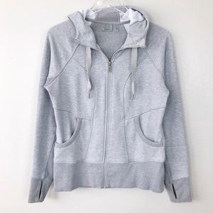 Athleta Cya Strength Zip Up Jacket Hoodie Gray